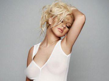 Беременная Кристина  Агилера не отказалась от фотосессии в стиле «ню» для журнала V