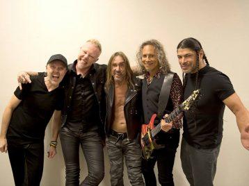 Во время концерта «Metallica» на сцену вышел Игги Поп